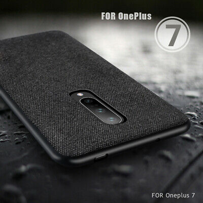 For OnePlus 7Pro Case Hybrid Fabric TPU Shockproof Case Slim Thin Silicone Cover