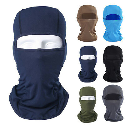 Full Face Mask Balaclava Ultra-thin Motorcycle Cycling Ski Neck Protect Unisex
