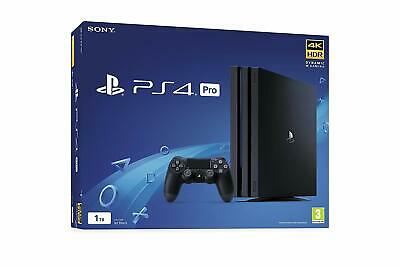 New Sony PlayStation 4 PRO 1TB PS4 4K Black UK PAL Video Games Console