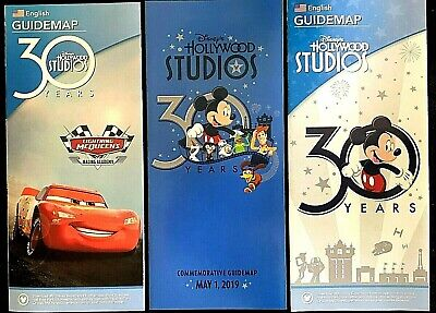 NEW 2019 WDW Disney Hollywood Studios 30th Anniversary Special Edition Guide Map