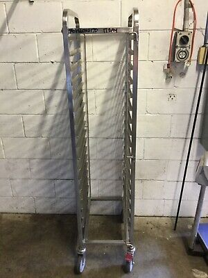 Commercial Stainless Mobile 17 Bay Full Gastro 1/1 Tray Caterers Bakers Rack