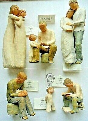 Willow Tree Figurines New Dad, Grandfather, Quest, Home, Chrysalis, Birthday boy