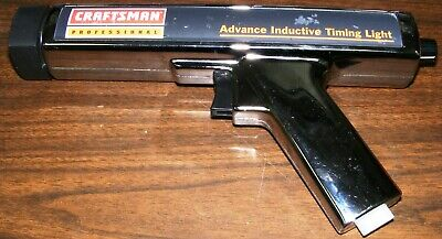 Craftsman Professional Timing Light With Advance Dial-No Pickup-Tested-Euc