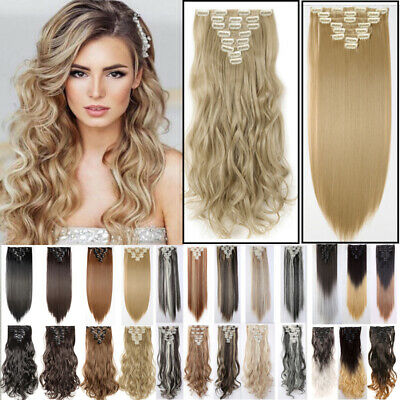 UK Clip In Hair feels like AAA Real Human Hair Extensions Full Head Hair Piece J
