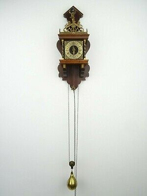 Zaanse Vintage Warmink Dutch Wall Clock Antique 1 day (Hermle Junghans Era)