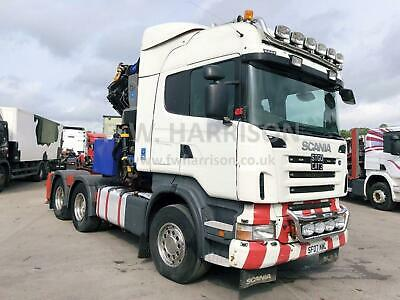 2007 Scania R580 V8 6X4 150 Ton Double Drive Tractor Unit, Fitted With Pm Crane