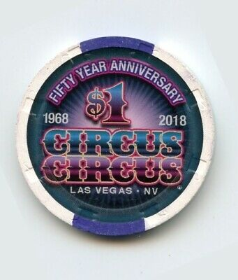1.00 Chip from the Circus Circus Las Vegas Nevada 50th Aniv