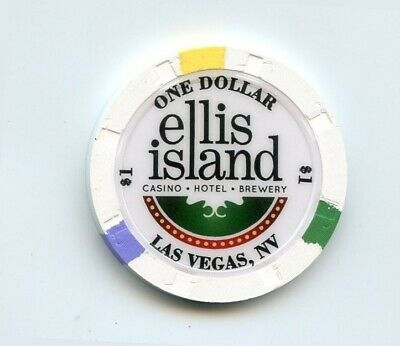 1.00 Chip from the Ellis Island Casino in Las Vegas Nevada Large Inlay