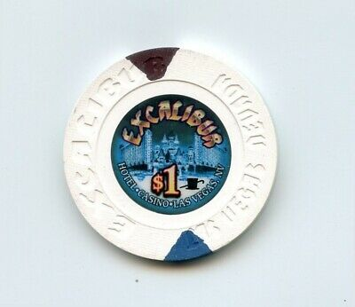 1.00 Chip from the Excalibur Casino in Las Vegas Nevada Small Inlay