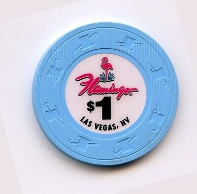1.00 Chip from the Flamingo Casino Las Vegas Nevada no Inserts