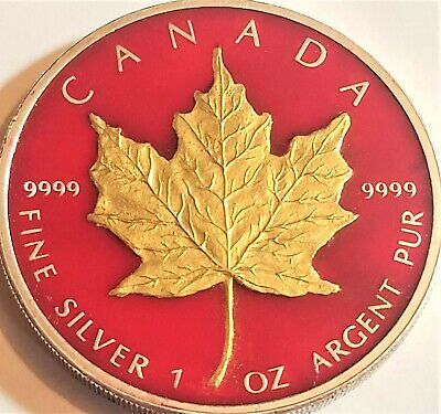 (Random Year) Canadian Maple Leaf  Colorized Coins .999 Silver # 1