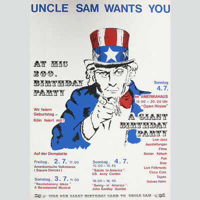 Uncle Sam wants you. At his 200. Birthday Party.