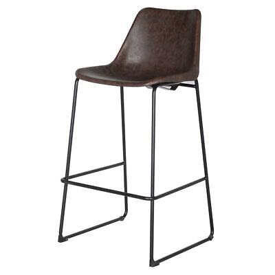 Delta PU Leather ABS Bar Stool, Vintage Coffee Brown