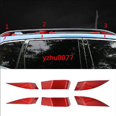 2019 Fit For Subaru Forester ABS Red Roof Rack Bars Decoration Cover Trim 6pcs