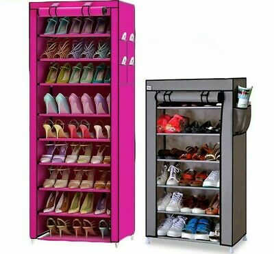 Metal Iron Shoes Storage Dust Proof Large Capacity 7-10 Layers Shoes Shelf Racks