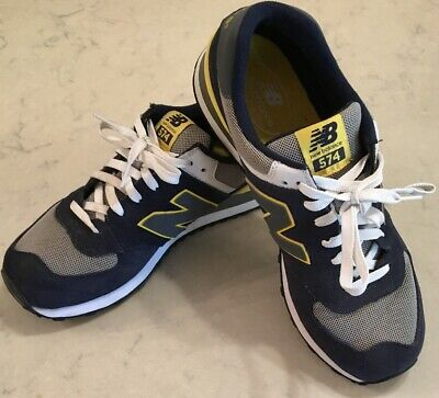 detailed look 769a9 61fdc New Balance 574 Classic Running Shoes (Men's size 12) Navy Blue & Yellow