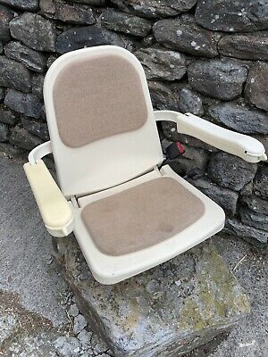 Acorn Brooks Superglide Seat. With Belt, Controls, Wiring Etc
