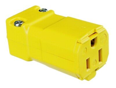 Hubbell HBL5969VY Connector Body 5969VY 15A 125V 2 Pole 3 Wire New