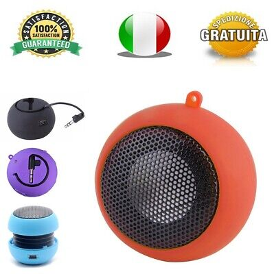 MINI SPEAKER CASSA PORTATILE ALTOPARLANTE JACK MP3 2W per SMARTPHONE HAMBURGER