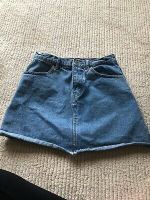 93bfdbe977 BRANDY MELVILLE JEAN Skirt Light Wash Wrap front snaps, size 29 ...