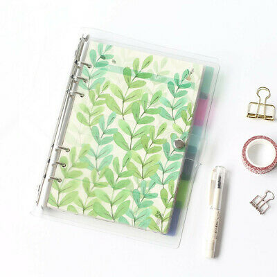 6pcs A5 A6 A7 Colored Notebook Index Page Matte Cover Spiral Diary Planner Paper