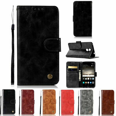 Luxury Magnetic Card Flip Wallet Leather Case Stand Cover For Huawei Y6/7/9 P20