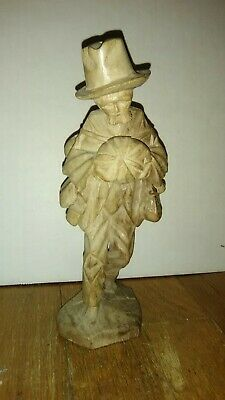 Vtg/Antique Hand Carved Pumpkin Man!