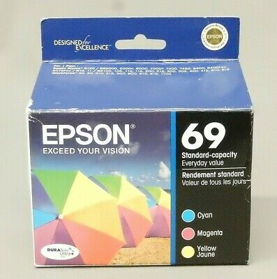 8p T069 BLACK COLOR Ink Cartridge for Epson T0691 Workforce 500 Stylus nx415