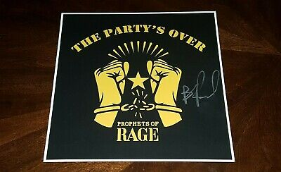 Prophets Of Rage B Real Signed The Party's Over 12X12 Album Photo Cypress Hill!!