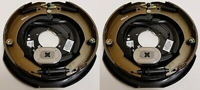 2-Pack 12 in. x 2 in. Left Hand Electric Trailer Brake Backing Plates
