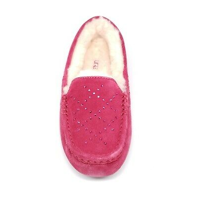 c239f62d371 WOMENS UGG ANSLEY Crystal Diamond Suede Slippers Oxblood Red Size 8