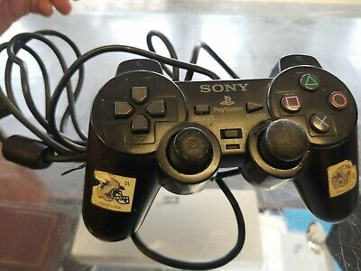 Sony PlayStation 2 PS2 Black Controller SCPH-10010 Dual Shock 2 Wired OEM