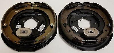 Two 12 in. x 2 in. Electric Brake Trailer Backing Plates (Left and Right)