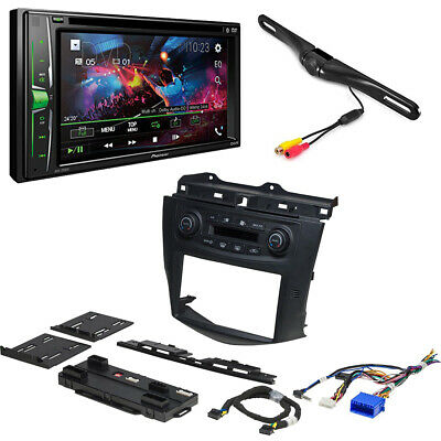 Double Din Pioneer Receiver Rear View Camera Dash kit For 2003-2007 Honda Accord
