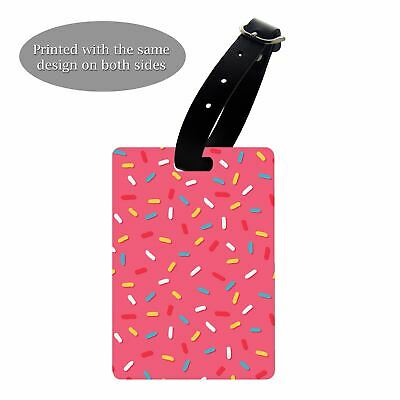 Luggage Suitcase Baggage Tag Donut Toppings - S187