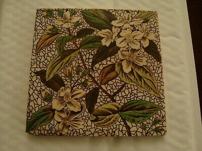Antique aesthetic floral and foliage ceramic tile  20/95