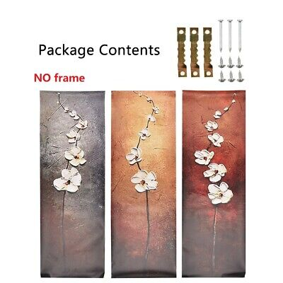 3Pcs Abstract Flower Canvas Print Art Painting Wall Picture Modern Home Decor