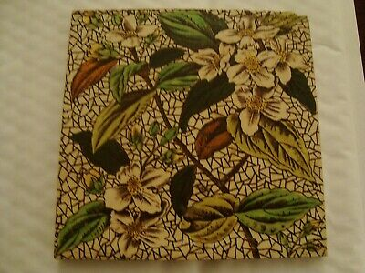 Charming aesthetic floral and foliage ceramic tile  20/95