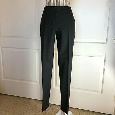 c6a79efe16 Theory Dress Pants Black Wool Trousers, Flat Straight ,Size 6, 91071238