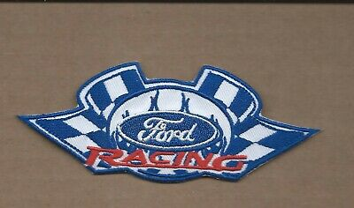 New 2 X 4 7/8 Inch Ford Racing Iron On Patch Free Shipping