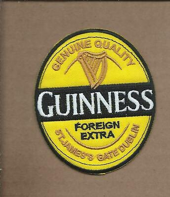 New 3 X 3 1/2 Inch Guinness Beer Iron On Patch Free Shipping