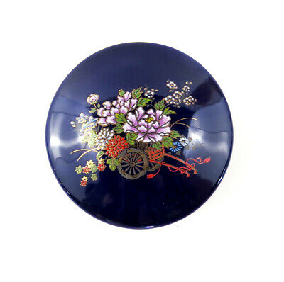 Vintage Chinese bowl with li Decorative Blue Gold Flowers Wall Charger Oriental