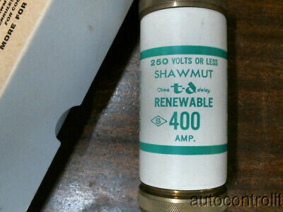 Ferraz Shawmut RF400 Fuse 400A 250V NEW Old Stock Silver plated contacts