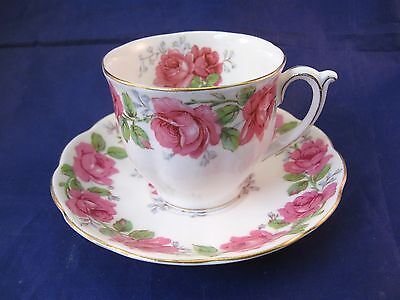 Fine Bone Bell China Tea Cup and Saucer  England - Lady Alexander Rose