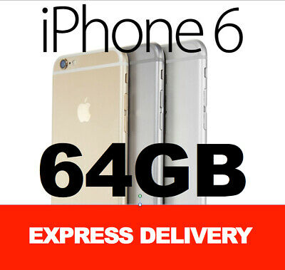 NEW Apple iPhone 6 16GB 64GB 128GB 4G 100% GENUINE FACTORY UNLOCKED CLEARANCE!