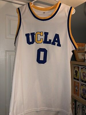 competitive price badc3 3f41e RUSSELL WESTBROOK WHITE Throwback UCLA Bruins #0 College ...