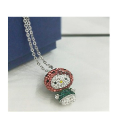 6e1ef4d0f Swarovski official authorized HELLO KITTY necklace Watermelon 5373134 38cm