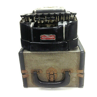 Vintage COURT STENOGRAPH REPORTER MODEL Portable In Case Made in CHICAGO USA