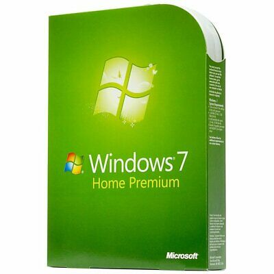 Microsoft Windows 7 Home Premium 64 Bit | Full License [DVD-COA Key] New !