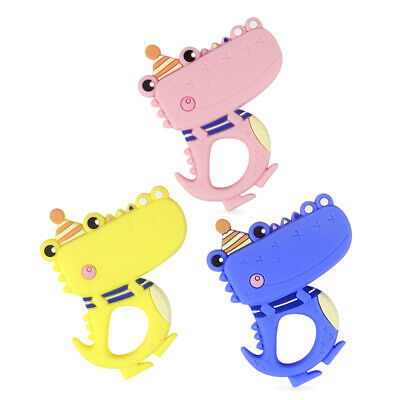 Crocodile Infant Baby Teether Food Grade Silicone Soother Chewable Teething Toy